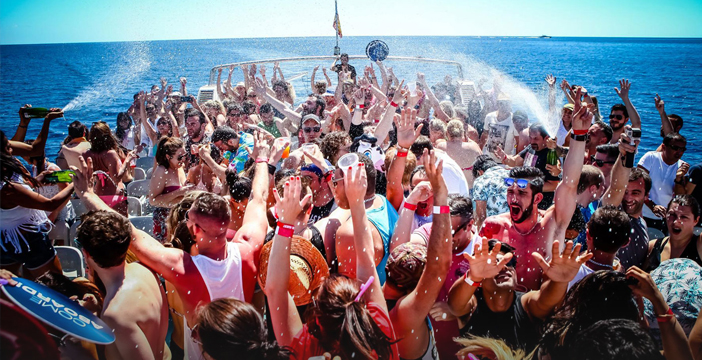 Boat Party durante el dia