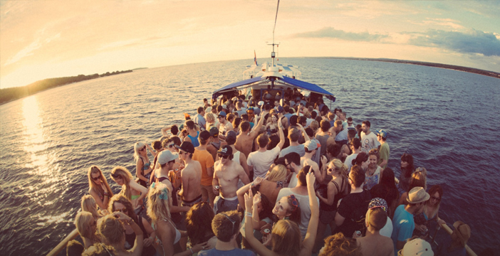 Boat Party durante la tarde